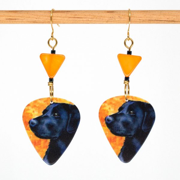 E1005 - Pumpkin Lab Earrings