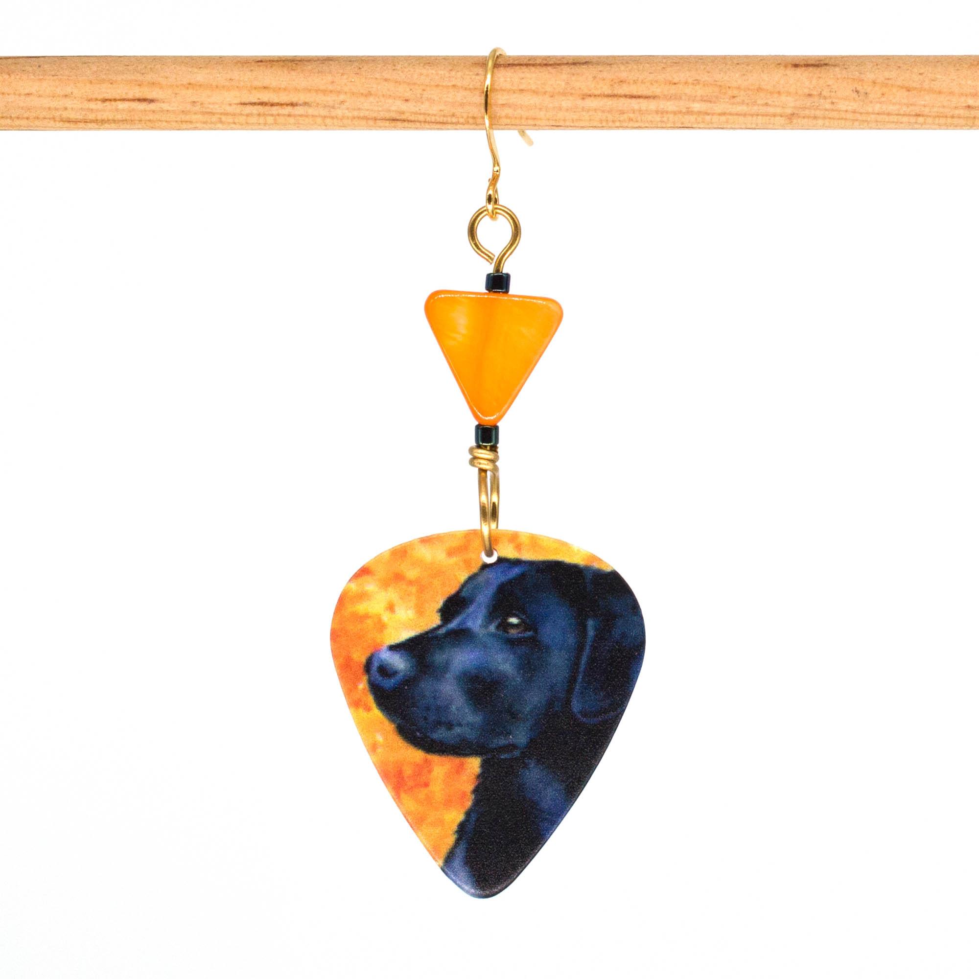 E1005D - Pumpkin Lab Earrings