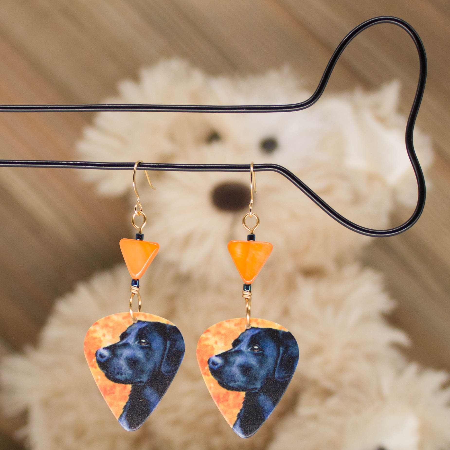 E1005LS - Pumpkin Lab Earrings