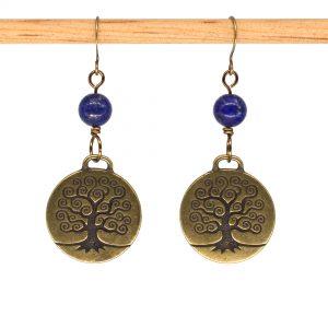 E1014 - Brain Tree Earrings