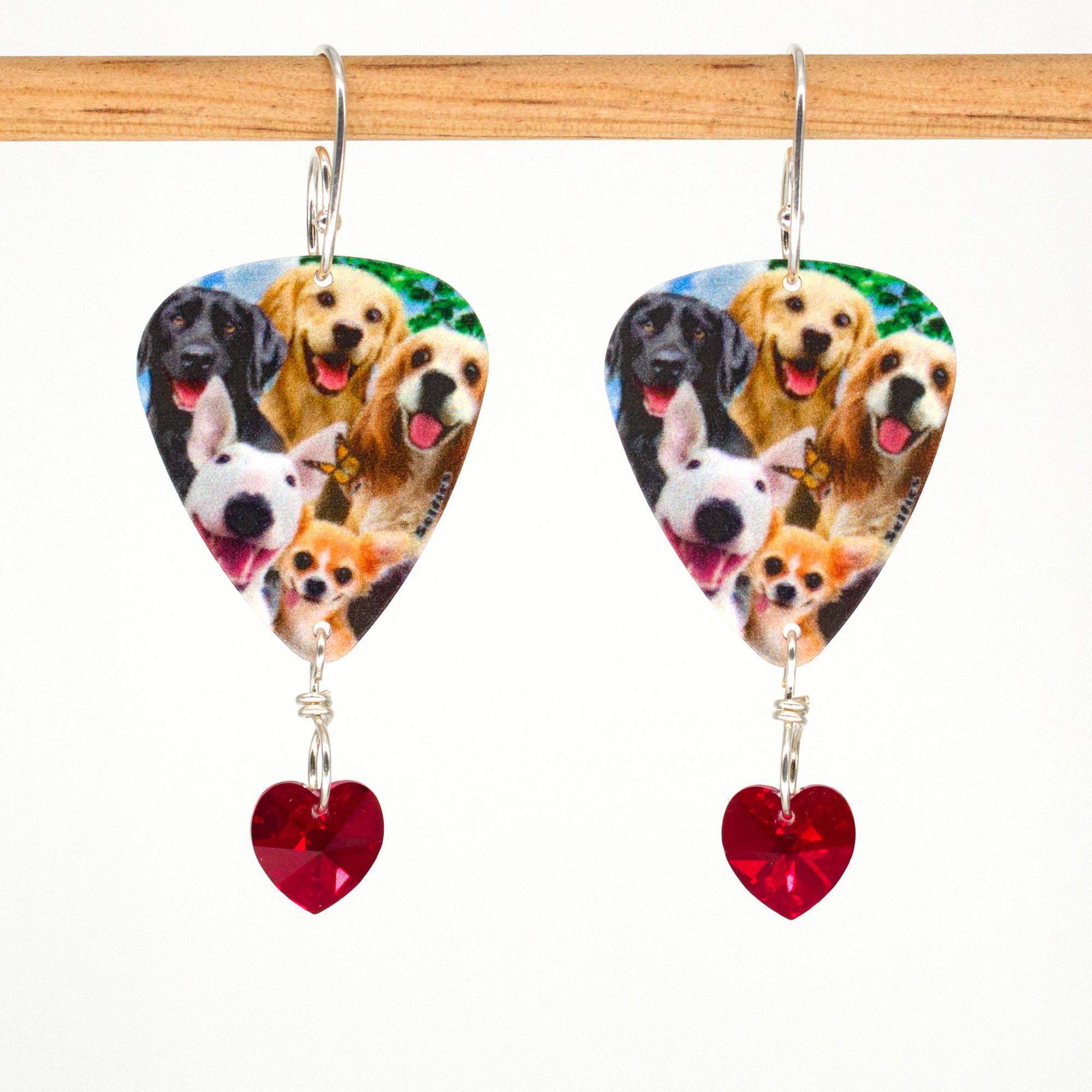 E1018 - Doggo Love Earrings