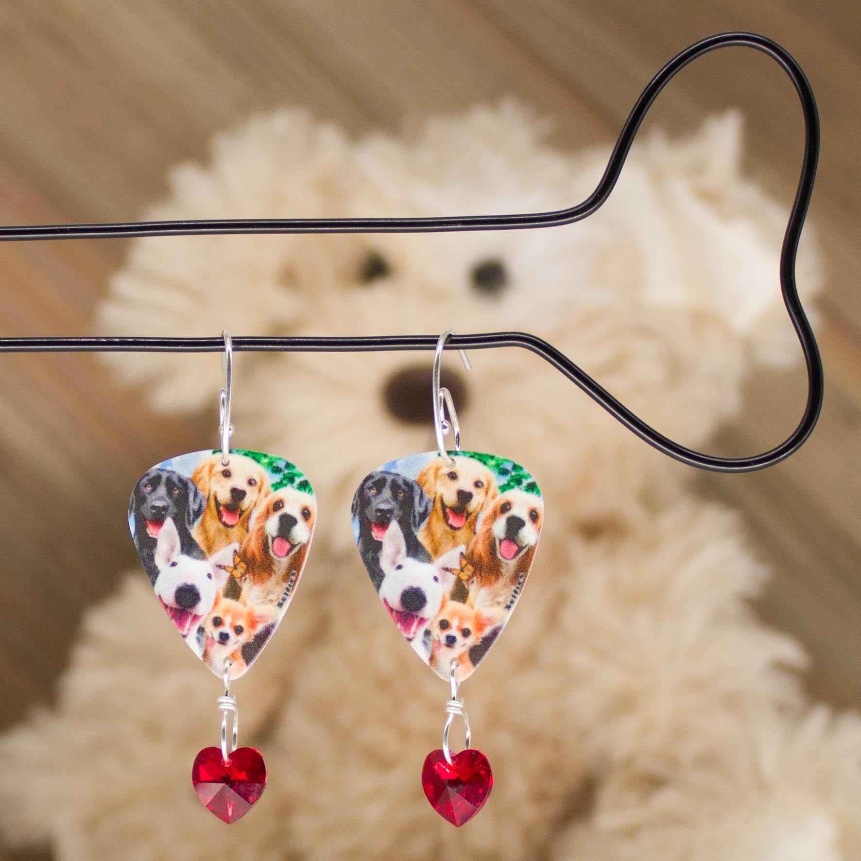 1018LS - Doggo Love Earrings