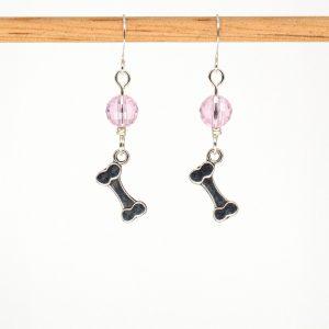 E1024 - Pink Bones Earrings