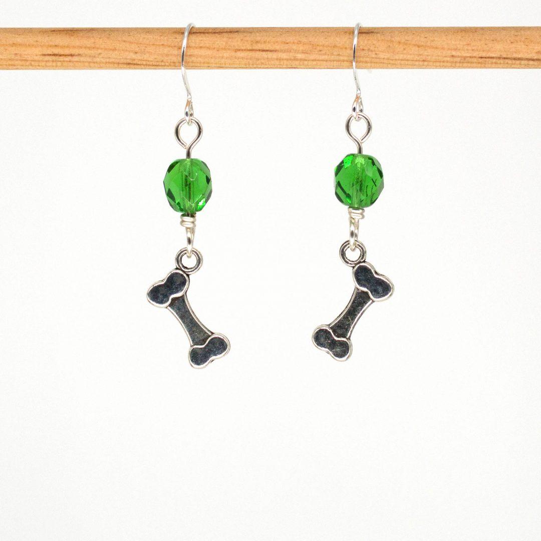 E1025 - Green Bones Earrings
