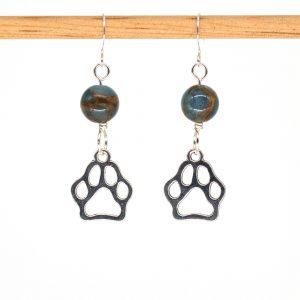 E1027 - Azure Doggo Paws Earrings