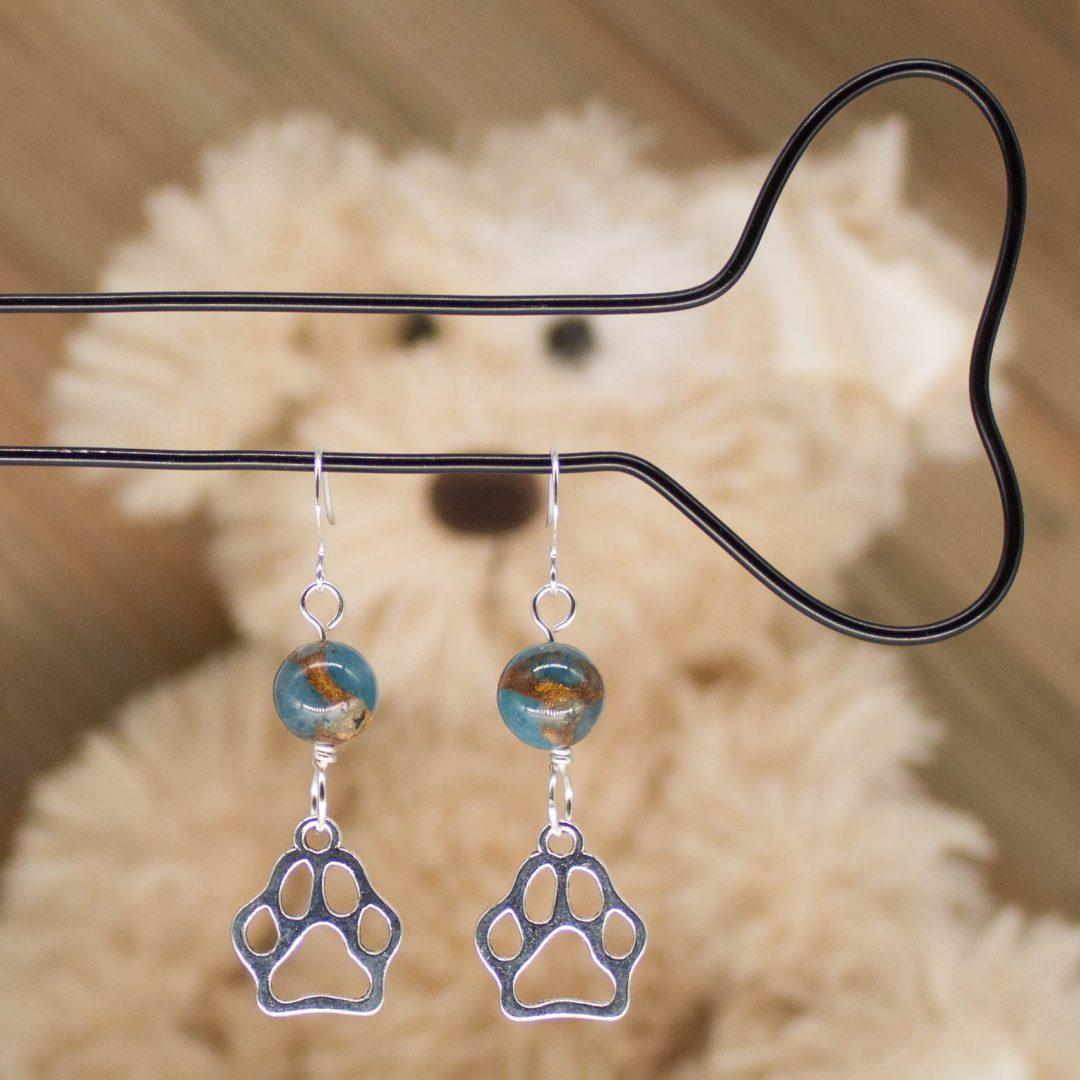 E1027LS - Azure Doggo Paws Earrings