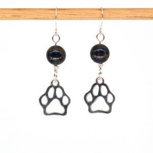 E1029 - Midnight Doggo Paw Earrings
