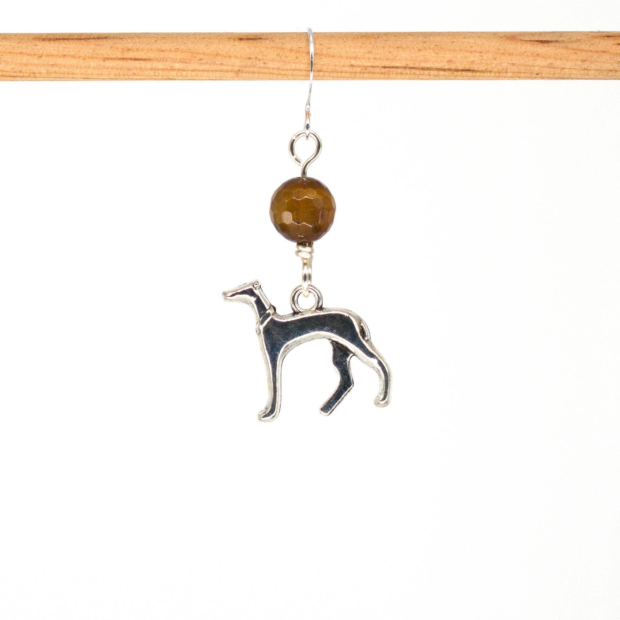 E1035D - Tiger Hound Earrings