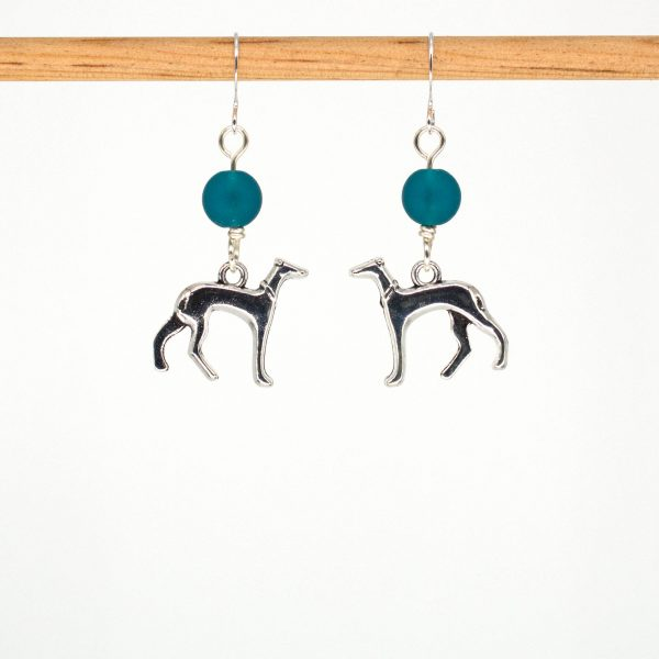E1036 - Peacock Hound Earrrings