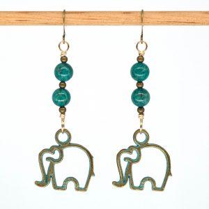 E1037 - Verde Elefante Earrings