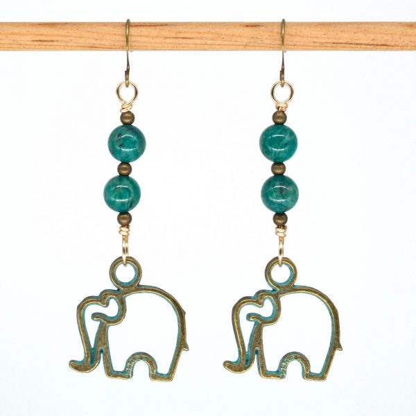 E1037 - Verde Elefante Earrings