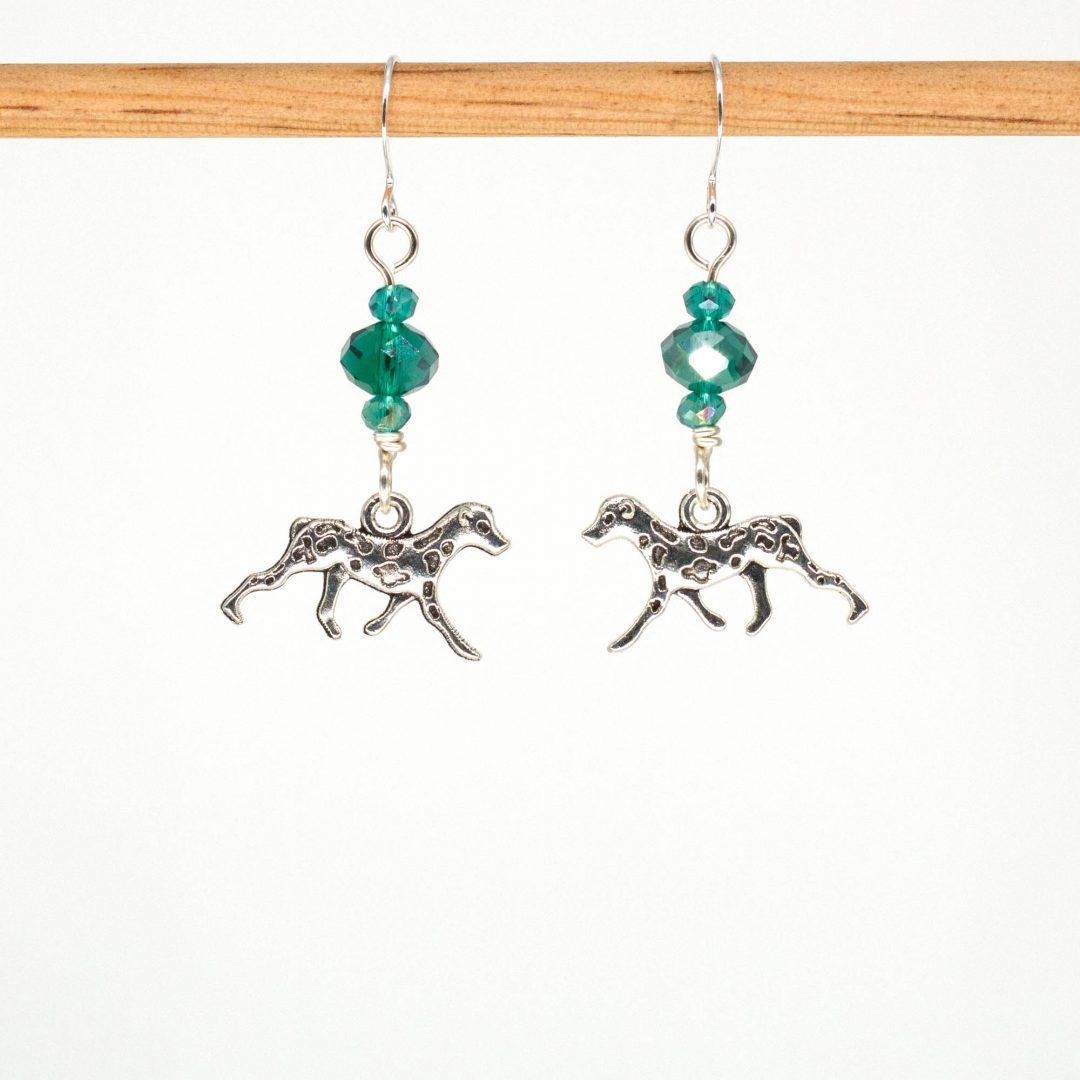 E1047 - Verde Spotty Earrings