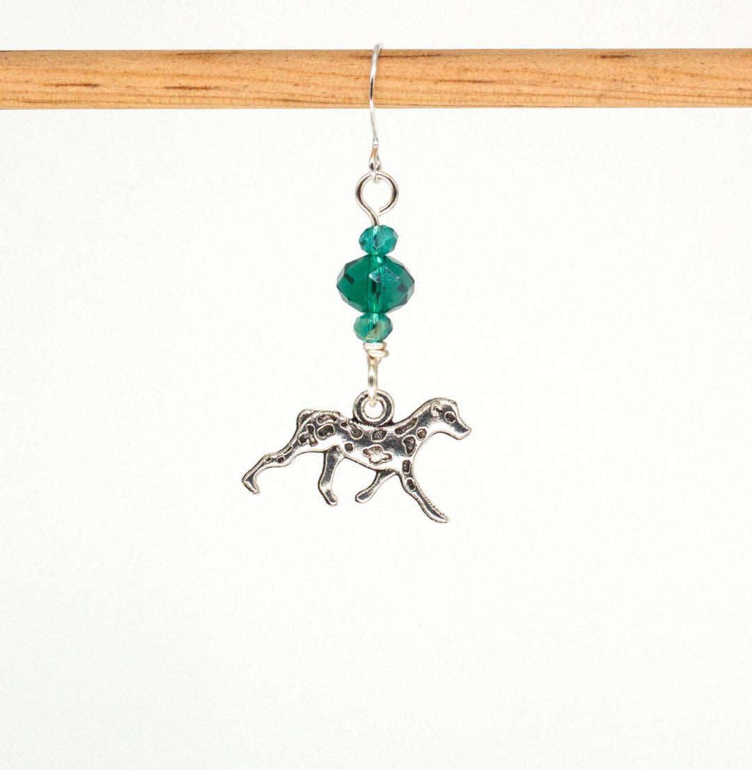 E1047D - Verde Spotty Earrings