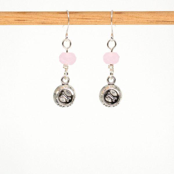 E1063 - Pink Dog Bones Earrings
