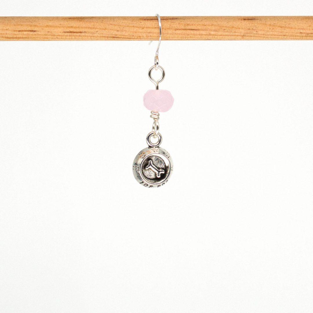 E1063D - Pink Bones Earrings