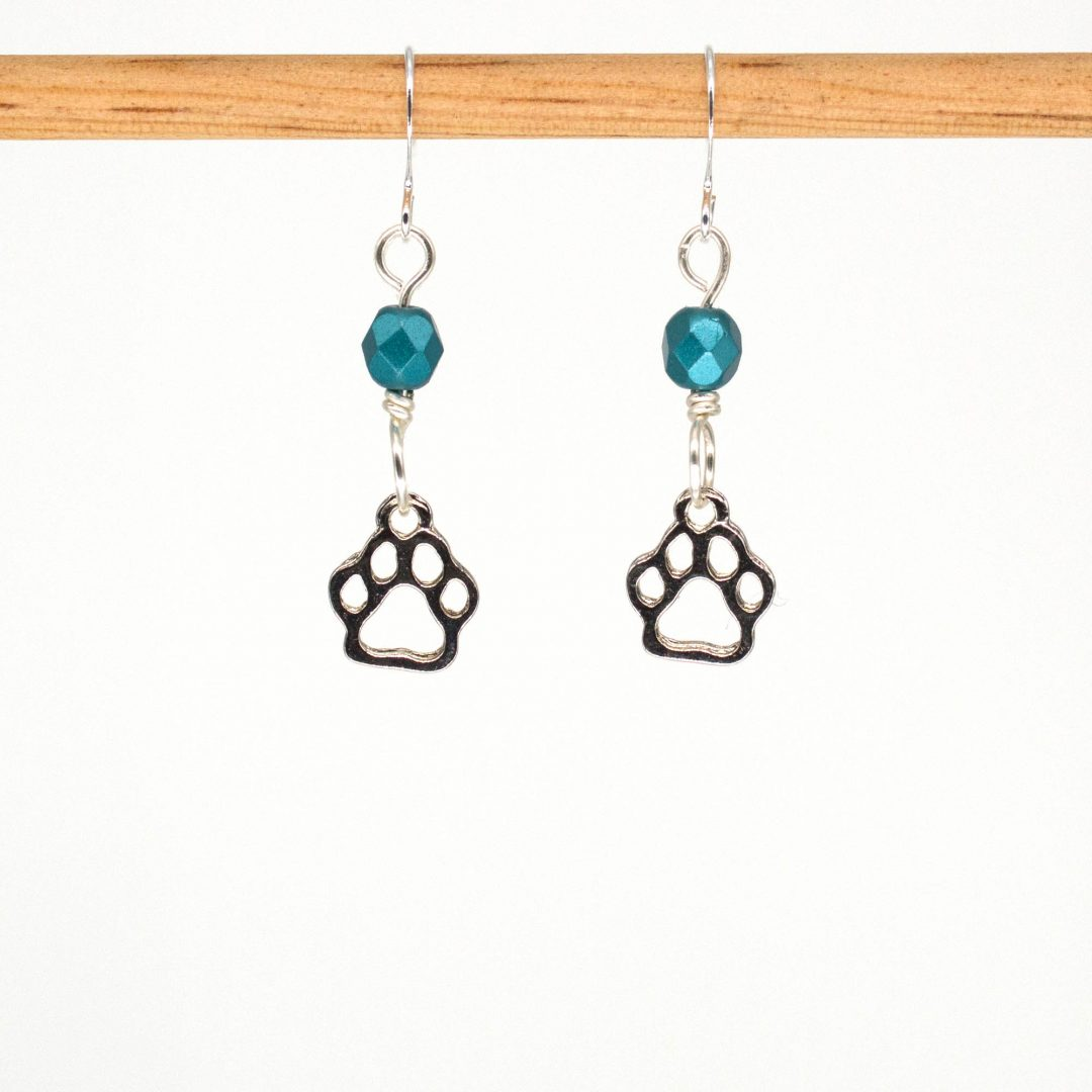 E1070 - Tealo Paws Earrings
