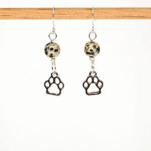 E1071 - Dalmatian Paws Earrings