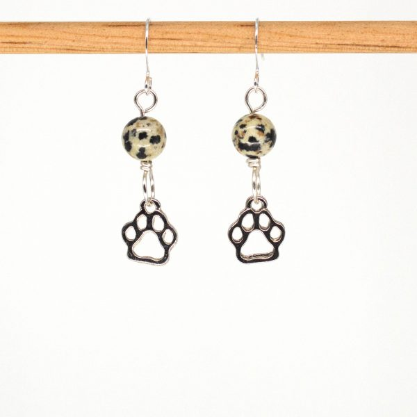 E1071 - Dalmatian Paws Earrings