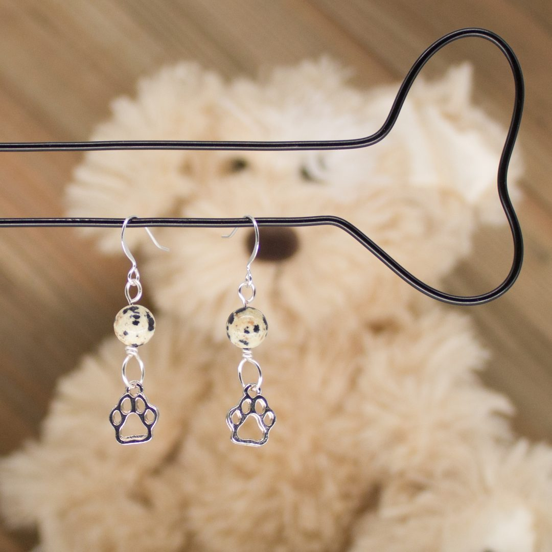 E1071LS - Dalmatian Paws Earrings