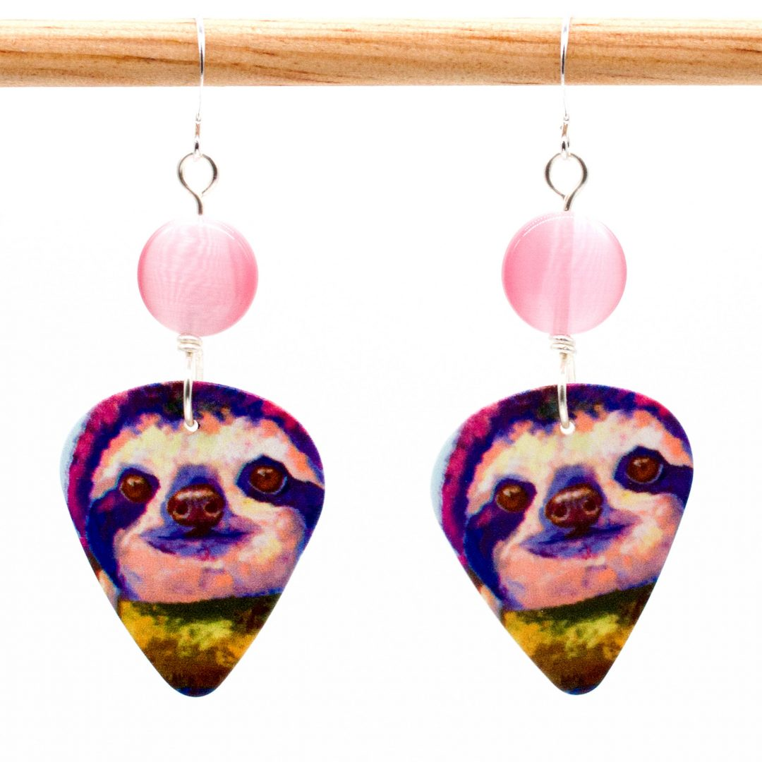 E965 - Squee Sloth Earrings