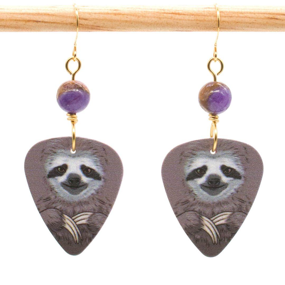 E969 - Morado Sloth Earrings