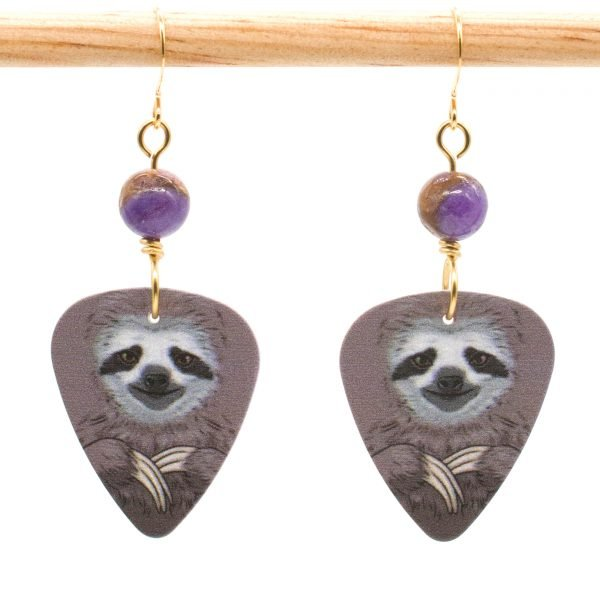 E969 - Morado Sloth Earrings