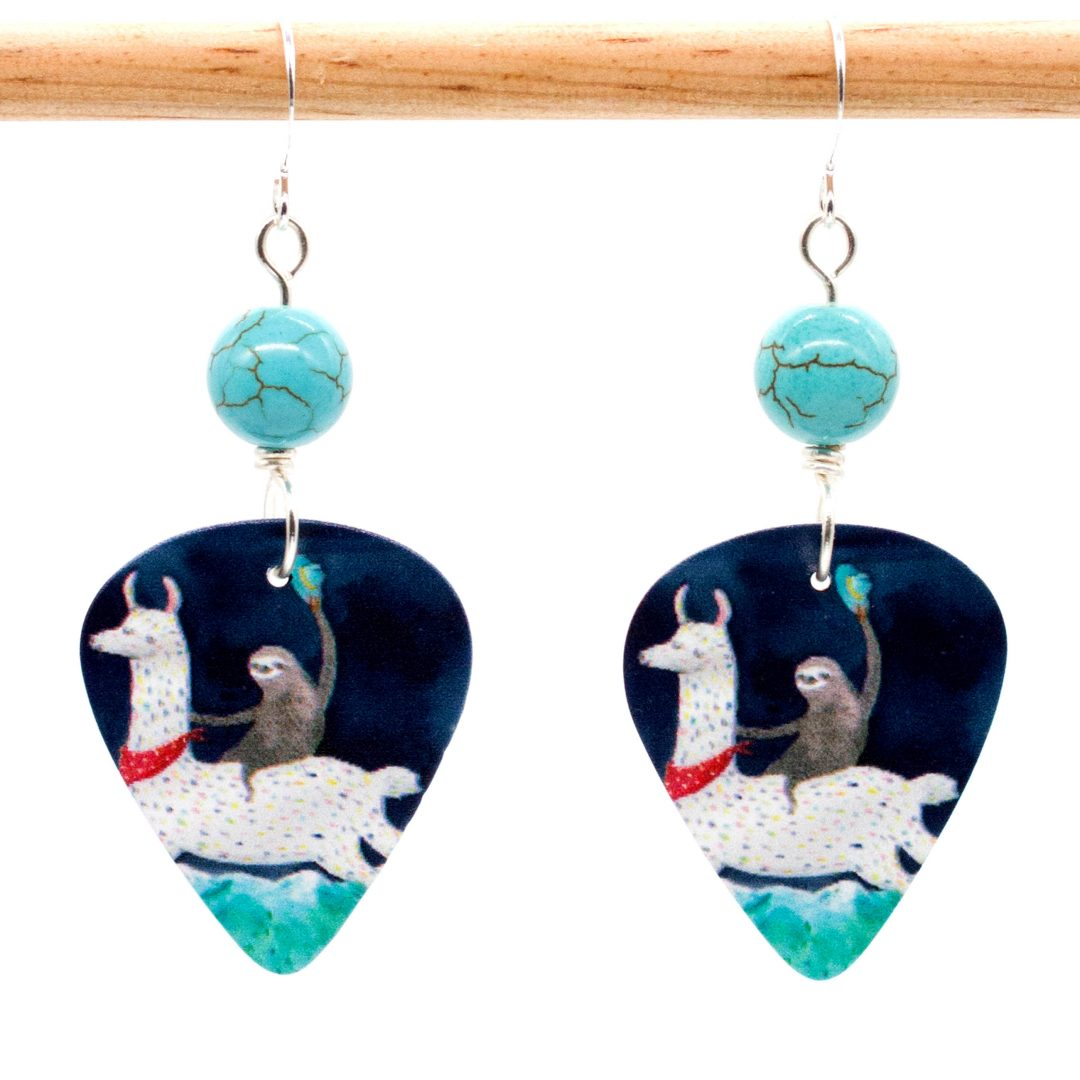 E971 - Yee Haa Sloth Earrings