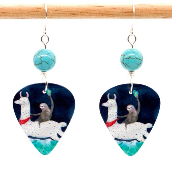 E971 - Yee Haa Sloth Earrings