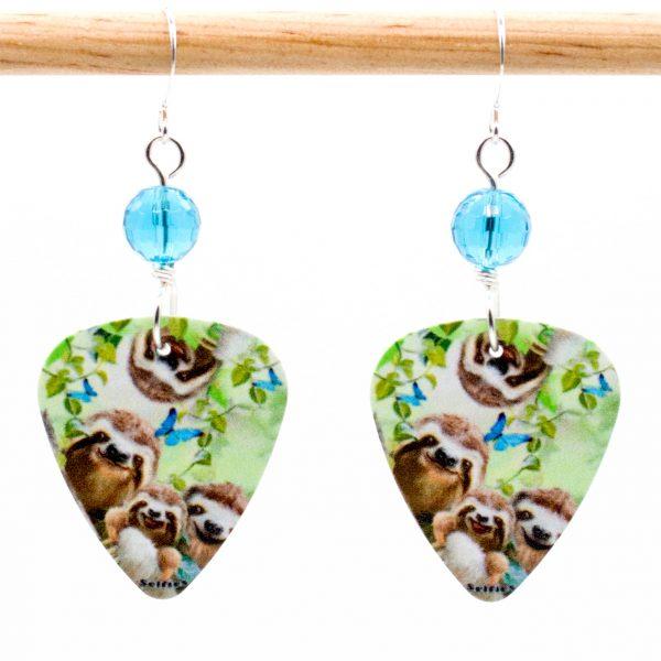 E976 - Selfie Sloth Earrings