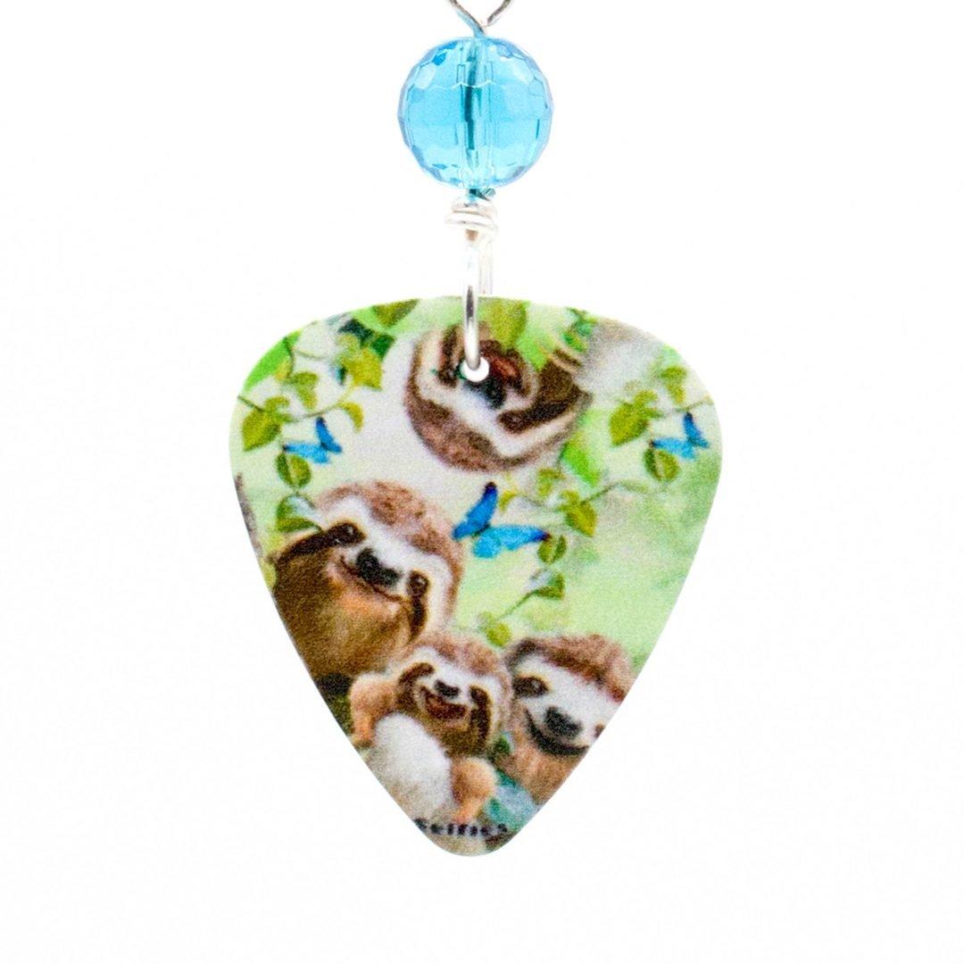 E976D - Selfie Sloth Earrings