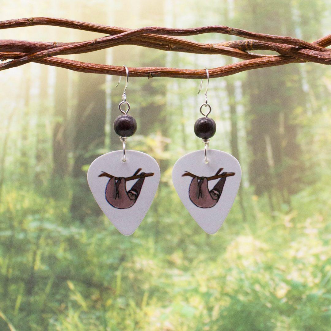 E978LS - Swag Sloth Earrings