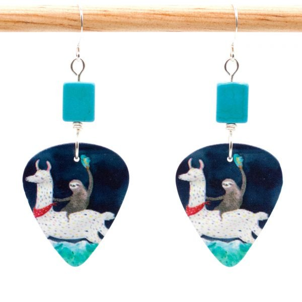 E980 - Cowgirl Sloth Earrings