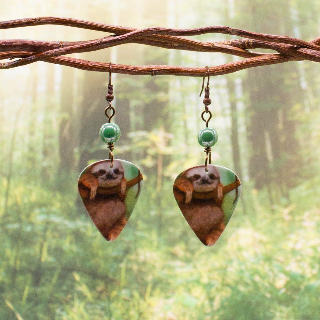 E981LS - Cuddle Sloth Earrings