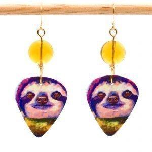 E982 - Violaceous Sloth Earrings