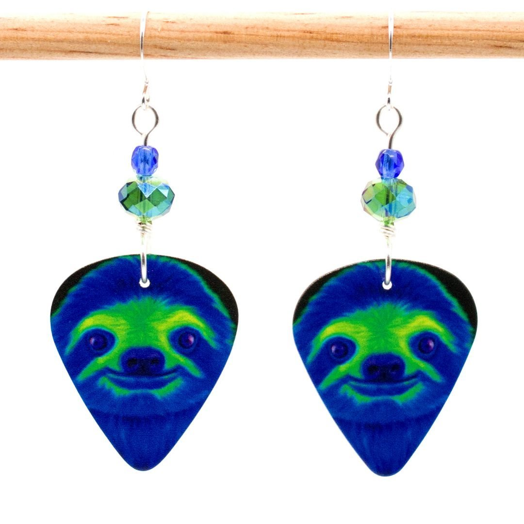 E986 - Soylent Green Sloth Earrings