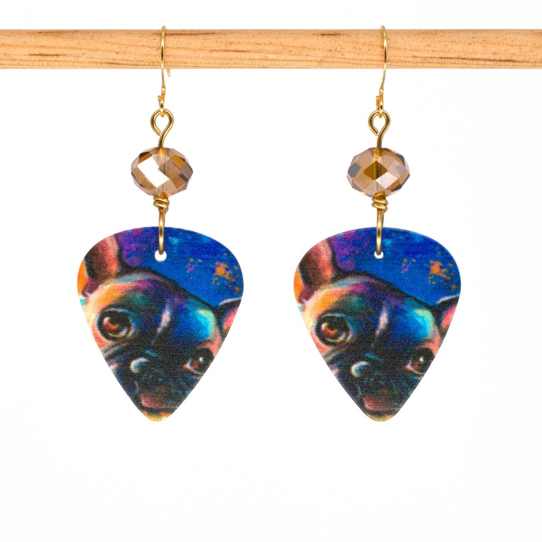 E992 - Midnight Pug Earrings