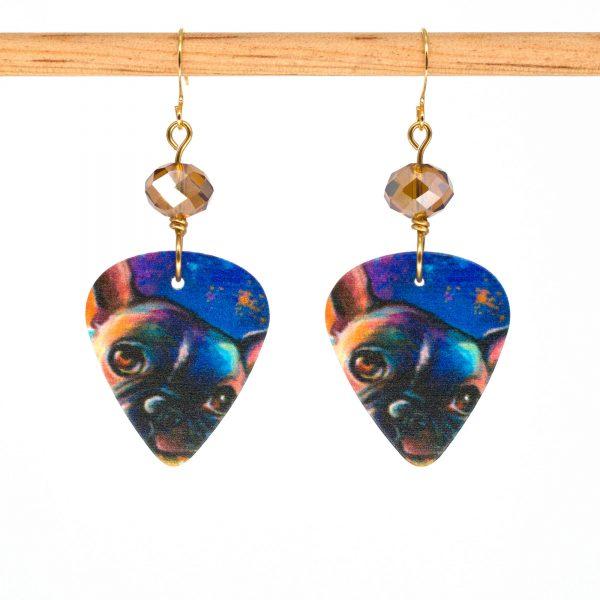 E992 - Midnight Pug Earrings