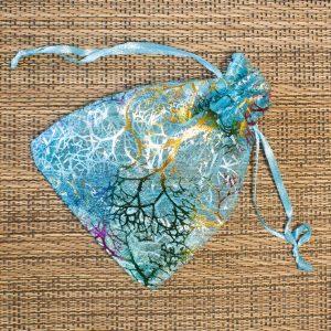 Gift Wrapping - Aqua Blue Organza Bag
