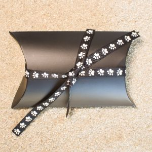 Gift Wrapping - Black Modern Package with Ribbon