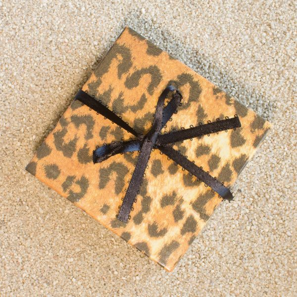 Gift Wrapping - Cheetah Box with Ribbon