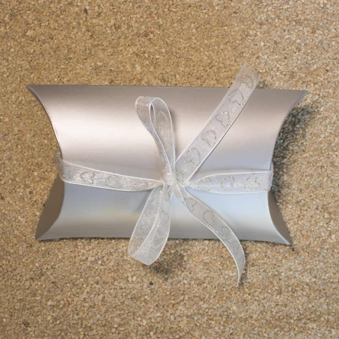 Gift Wrapping - Silver Modern Box with Ribbon