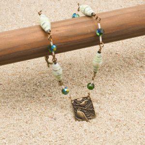 NE809LSa2 - Verde Aves Necklace and Earrings