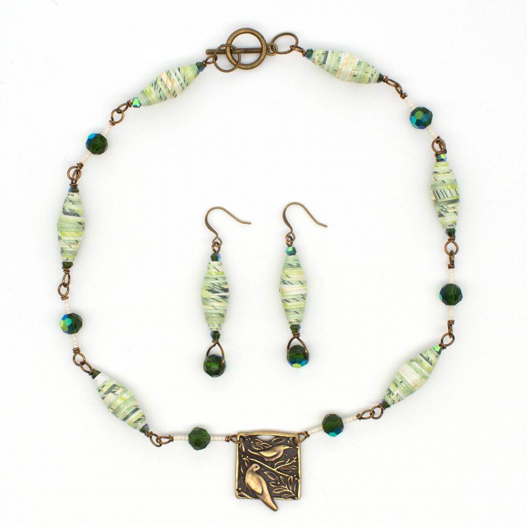 NE809c - Verde Aves Necklace