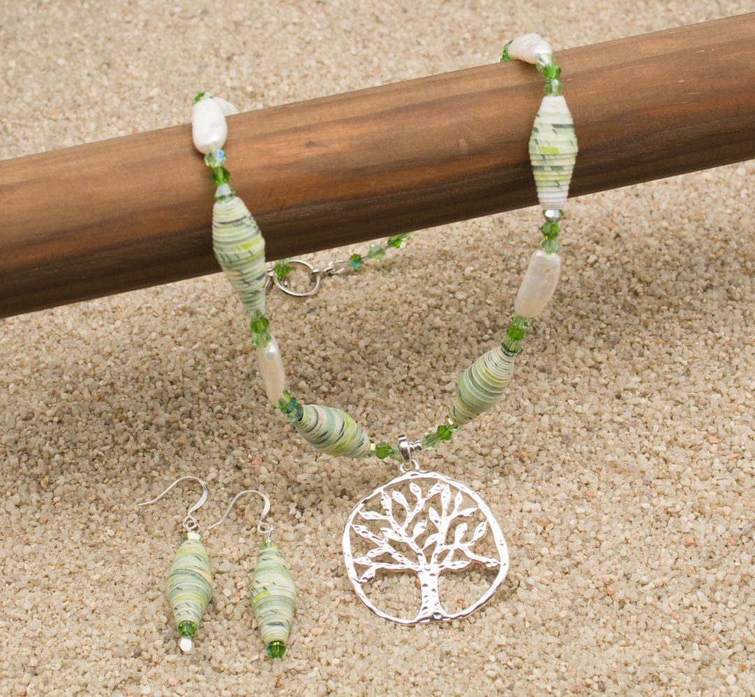 NE810LSa - Pearl Arbor Necklace and Earring Set