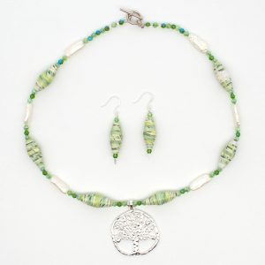 NE810b - Pearl Arbor Necklace