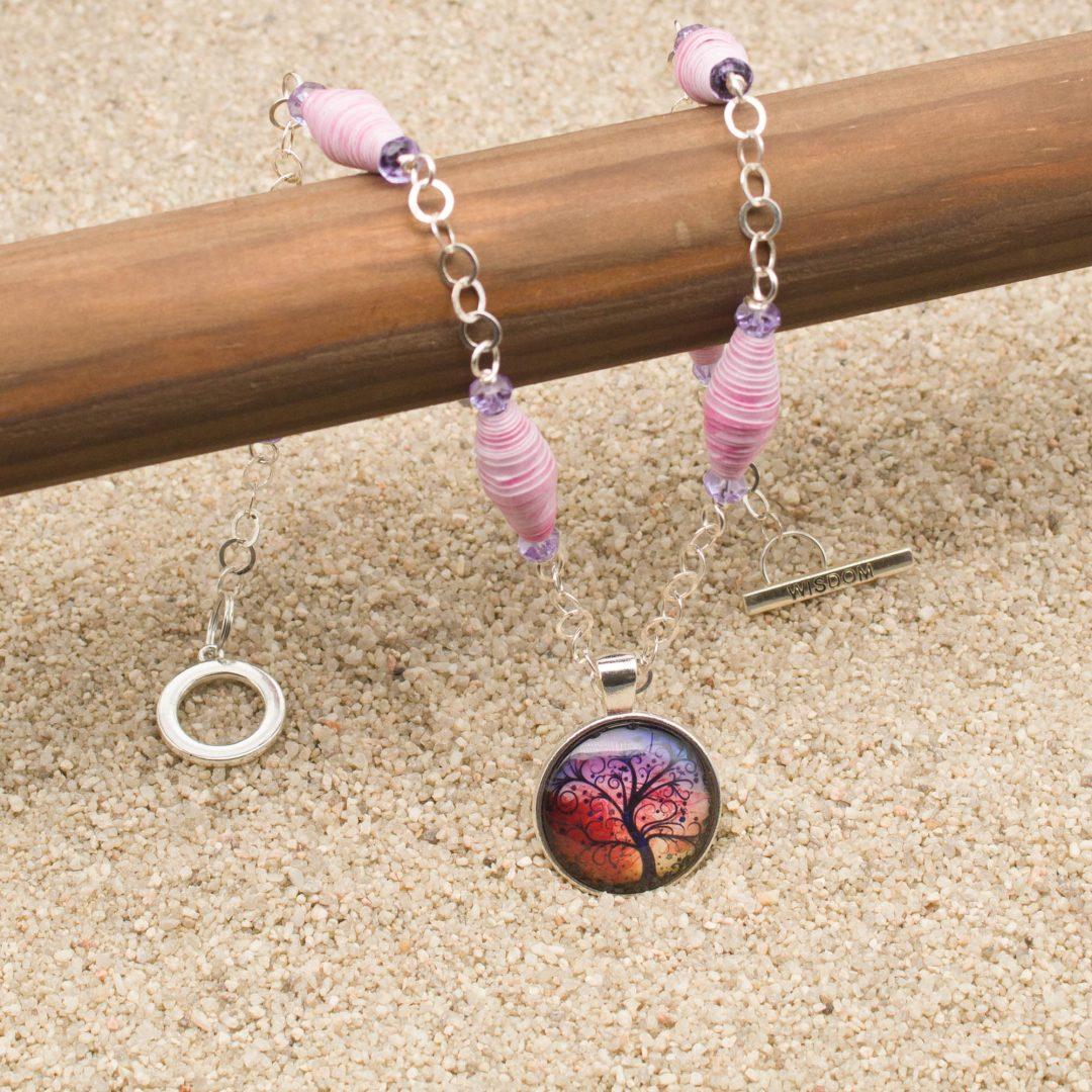 NE811LSa - Windswept Necklace and Earring Set