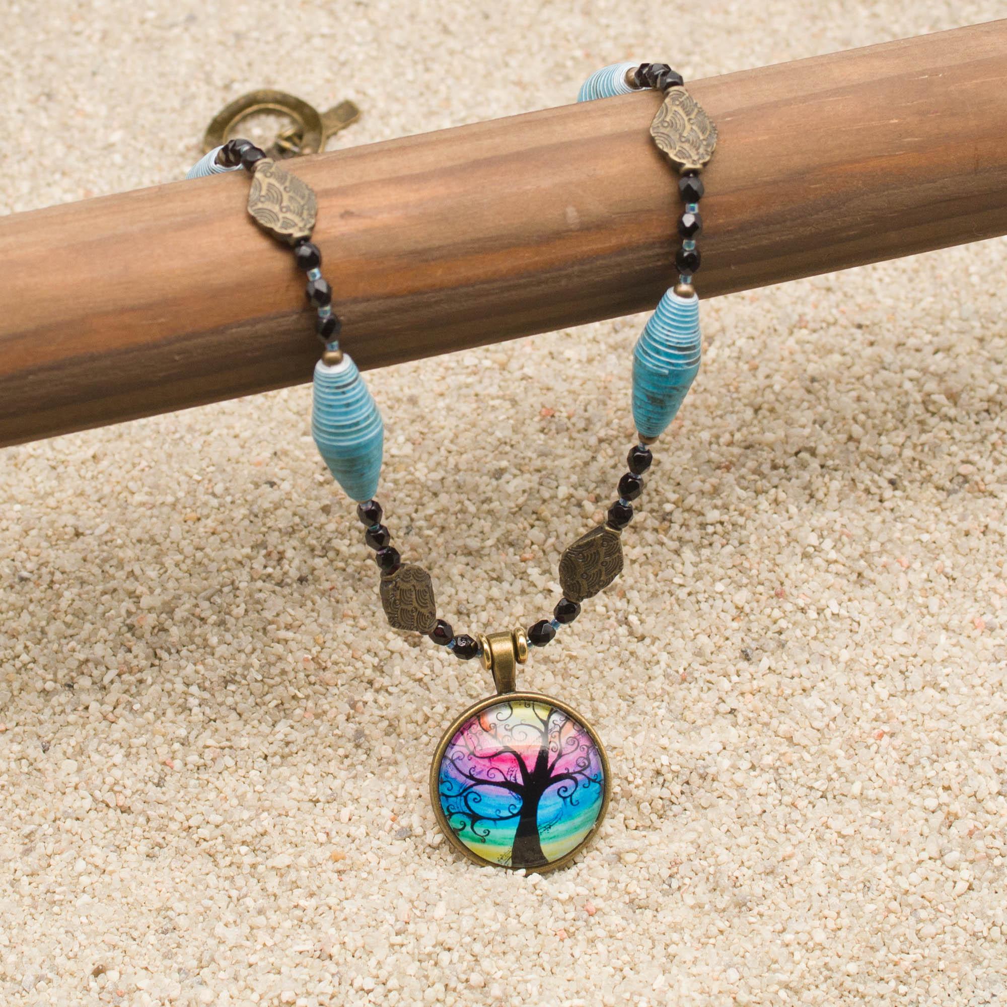 NE812LSa - Mystic Blues Necklace and Earring Set