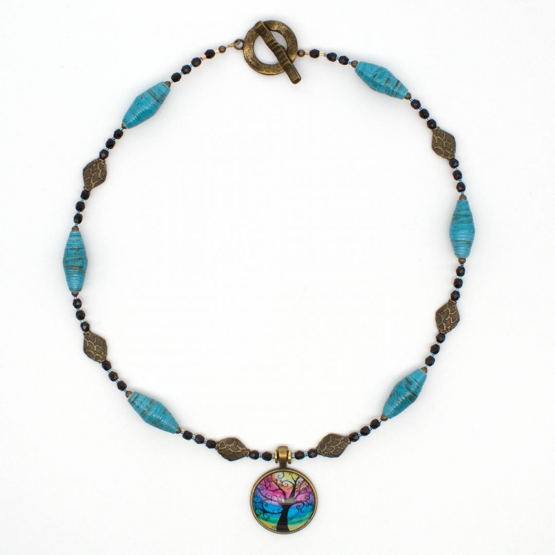 NE812a - Mystic Blues Necklace