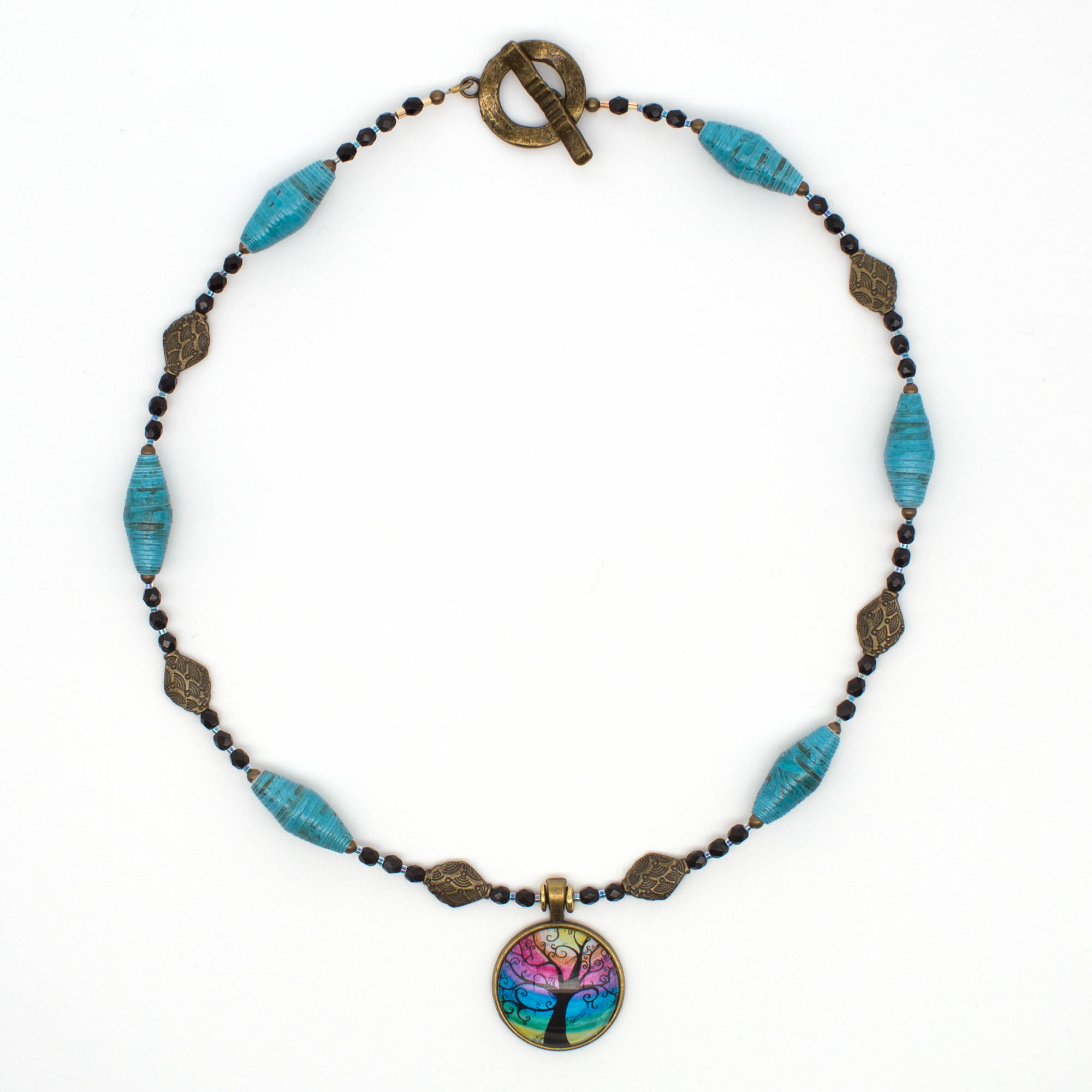 NE812a - Mystic Blues Necklace