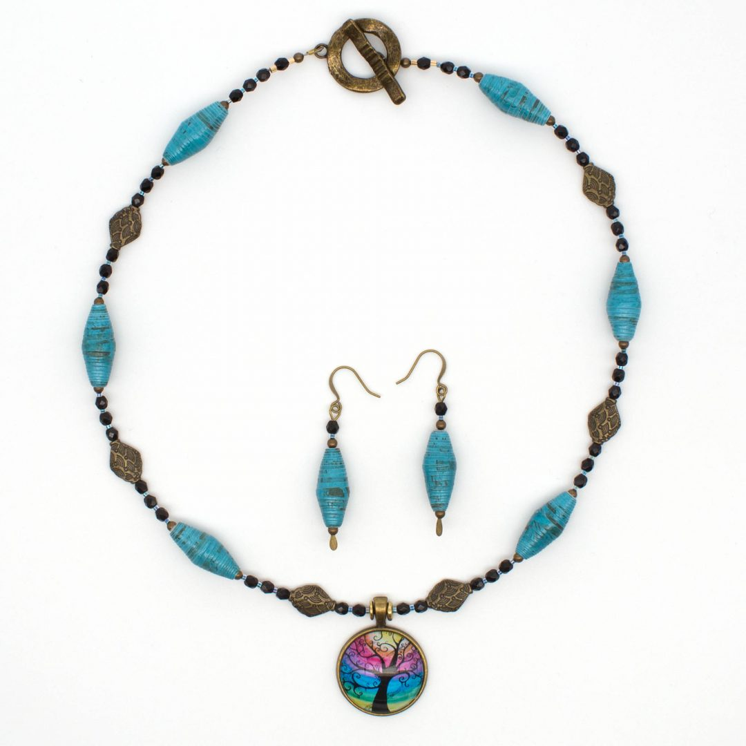 NE812b - Mystic Blues Necklace
